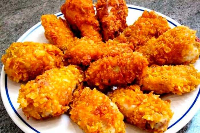 como preparar alitas de pollo crocantes