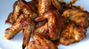 alitas de pollo agridulce