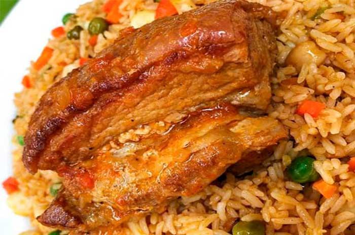 como preparar arroz con chancho