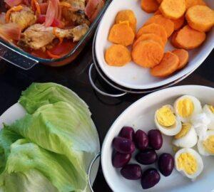 ingredientes para el escabeche de pollo