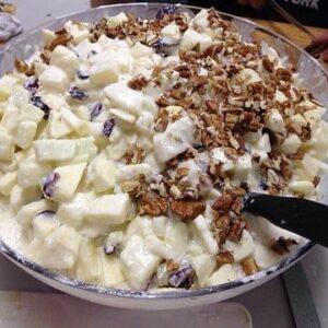 como preparar ensalada de manzana