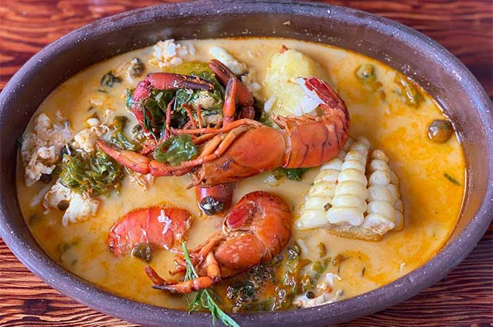 receta con pescado y marisco