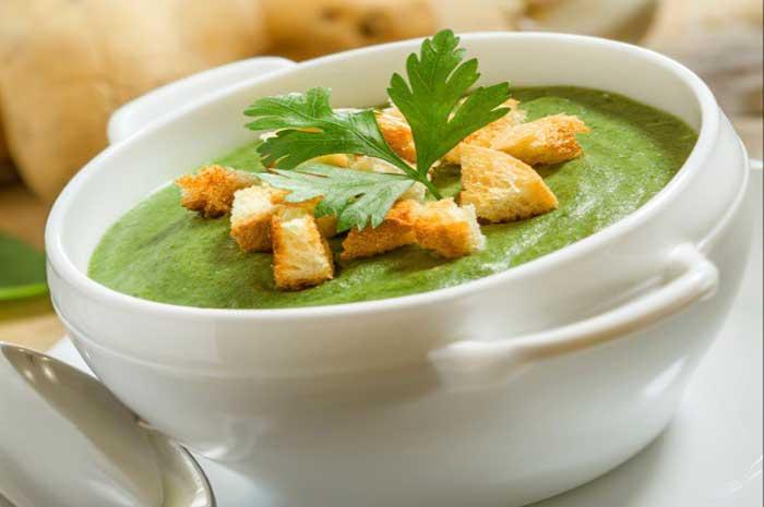 como preparar sopa de espinaca