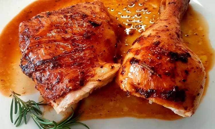 pollo al horno jugoso