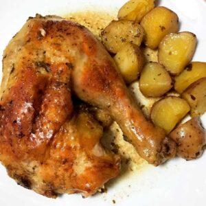 como preparar pollo al horno